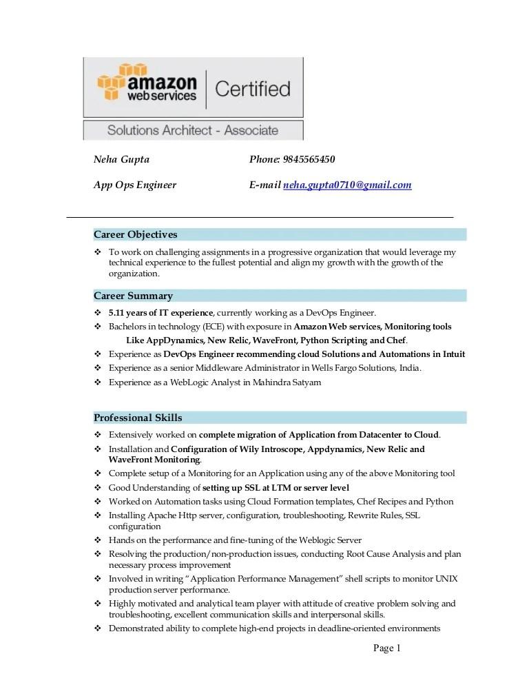 resume with logo sample