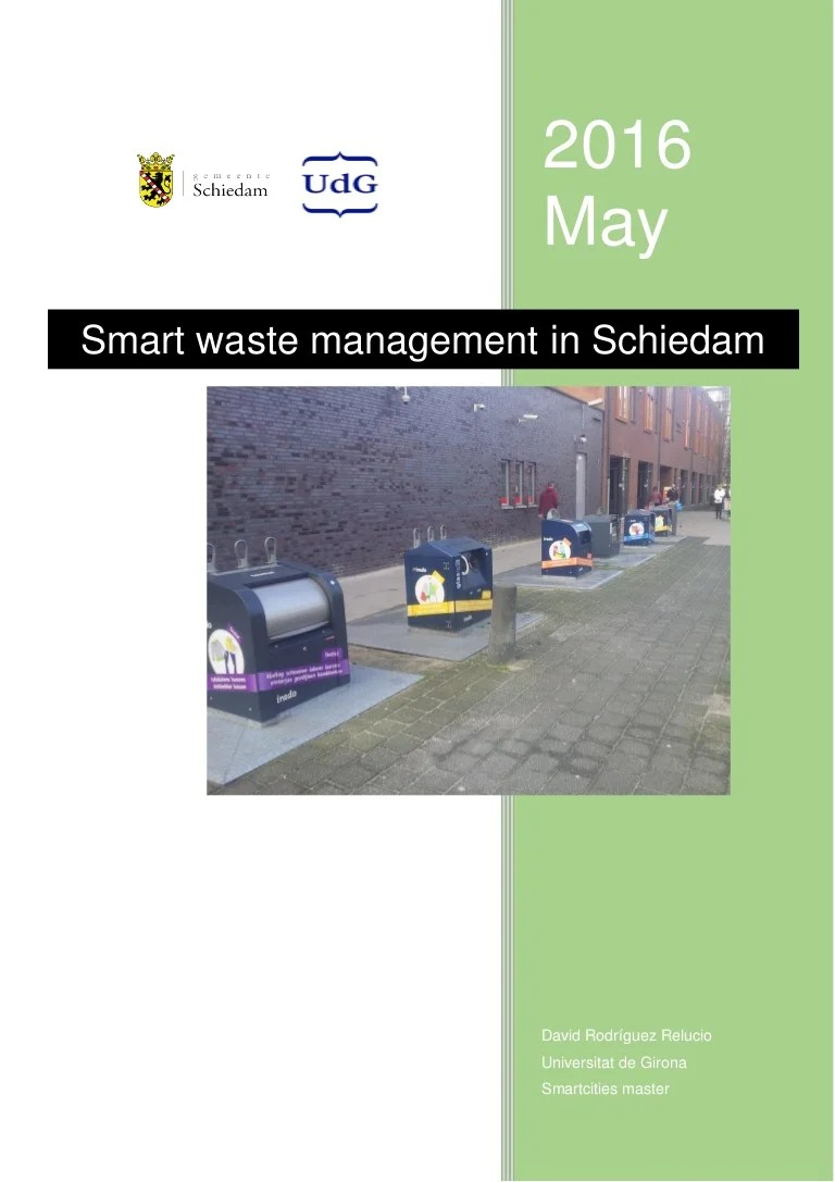 Smart Floor Waste Smart Waste Management In Schiedam