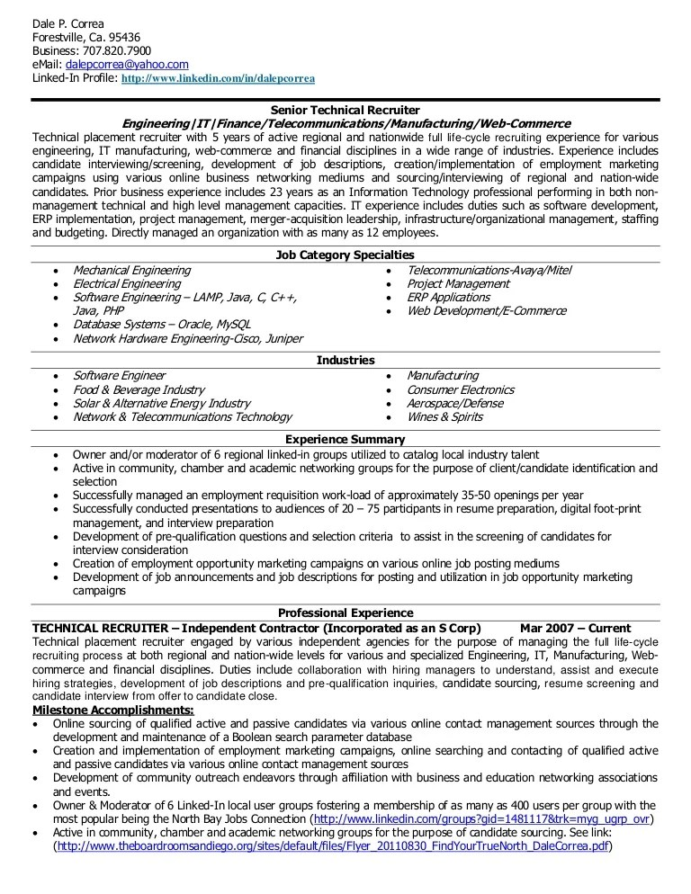 Recruiting Manager Resumes   Contegri   Recruiting Manager Resume