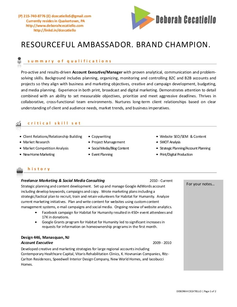 advertising account manager resumes - Minimfagency