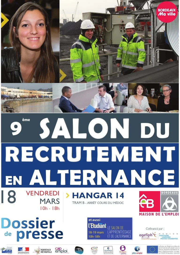 Salon Alternance Bordeaux Dossier Presse Salon Recrutement Alternance Bordeaux 2016