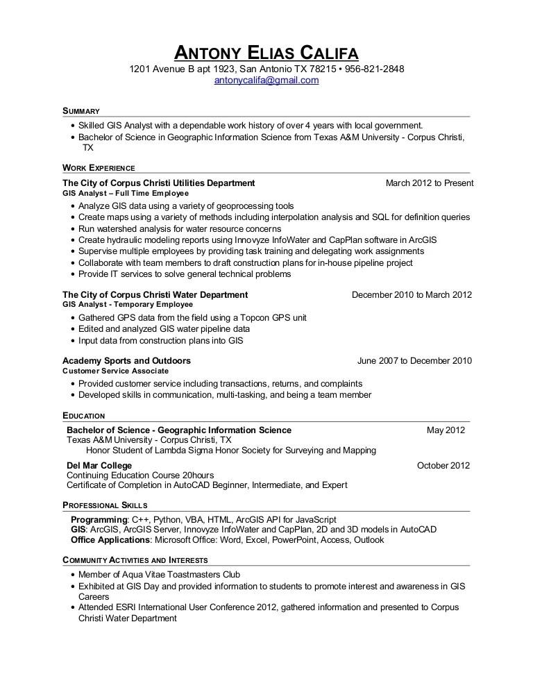 programmer analyst resume sample
