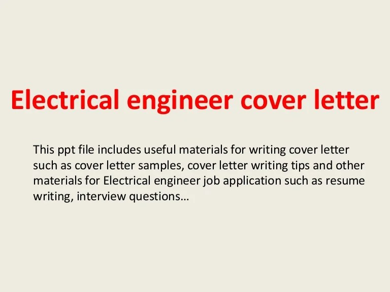 sample cover letters for electrical engineers - Asliaetherair