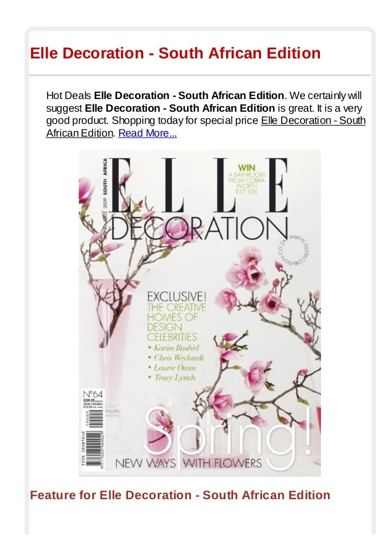 Elle Decoration South Africa Elle Decoration South African Edition