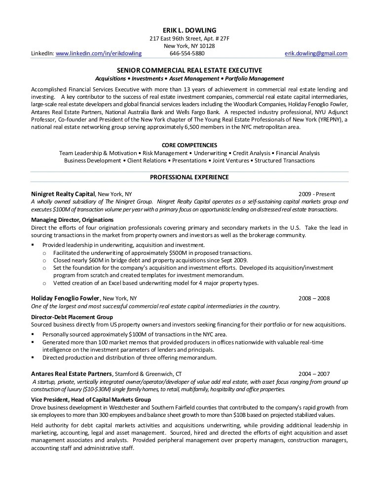 real estate investor resume examples - Funfpandroid