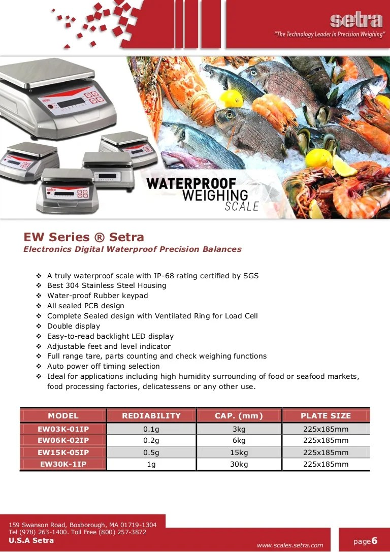 Ew Series Ew Series Setra Waterproof Weighing Scale