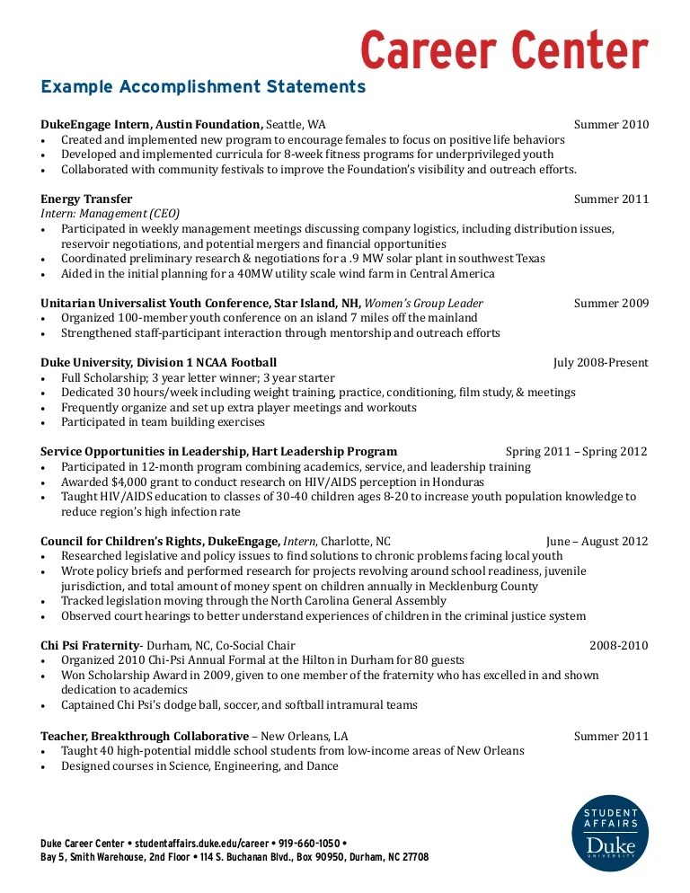 career achievements sample - Maggilocustdesign - Achievements In Resume Sample