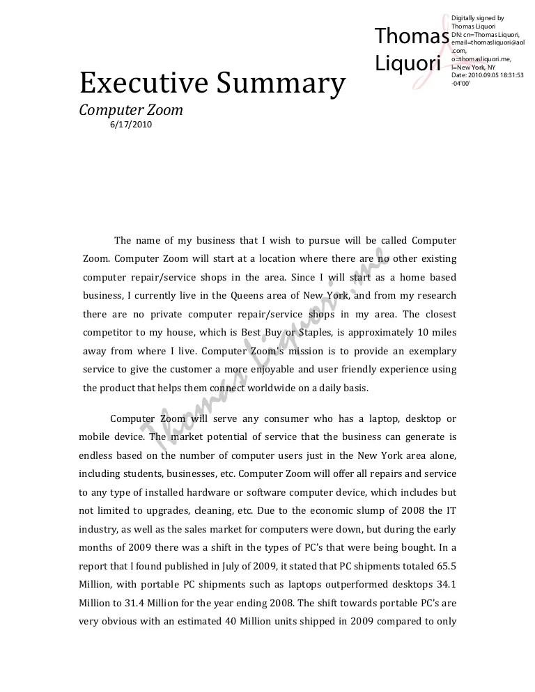 executive statement
