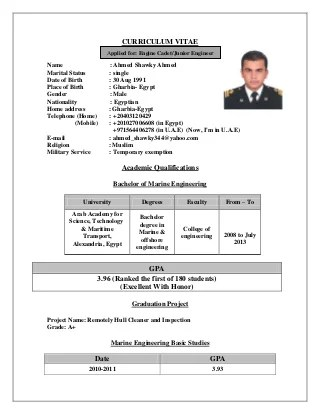 offshore resume samples - Goalgoodwinmetals
