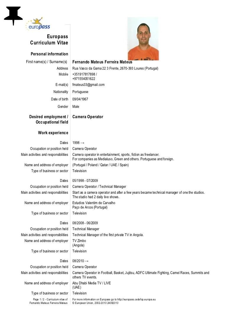student english cv template