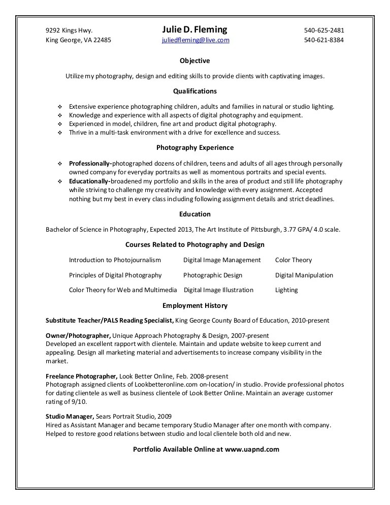 freelance photography description - Onwebioinnovate - sample photographer resume