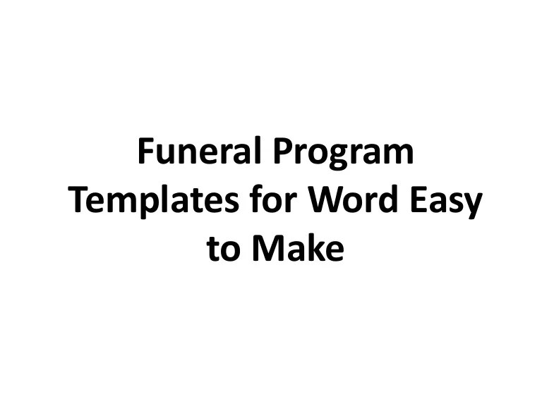 funeral order of service template download - Minimfagency - funeral program word template