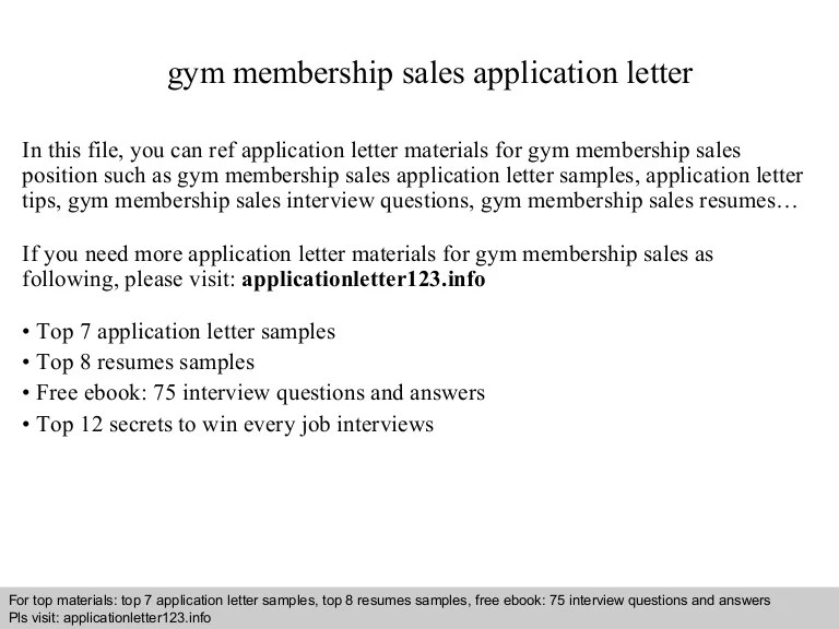 cover letter for a gym job - Josemulinohouse - gym attendant sample resume