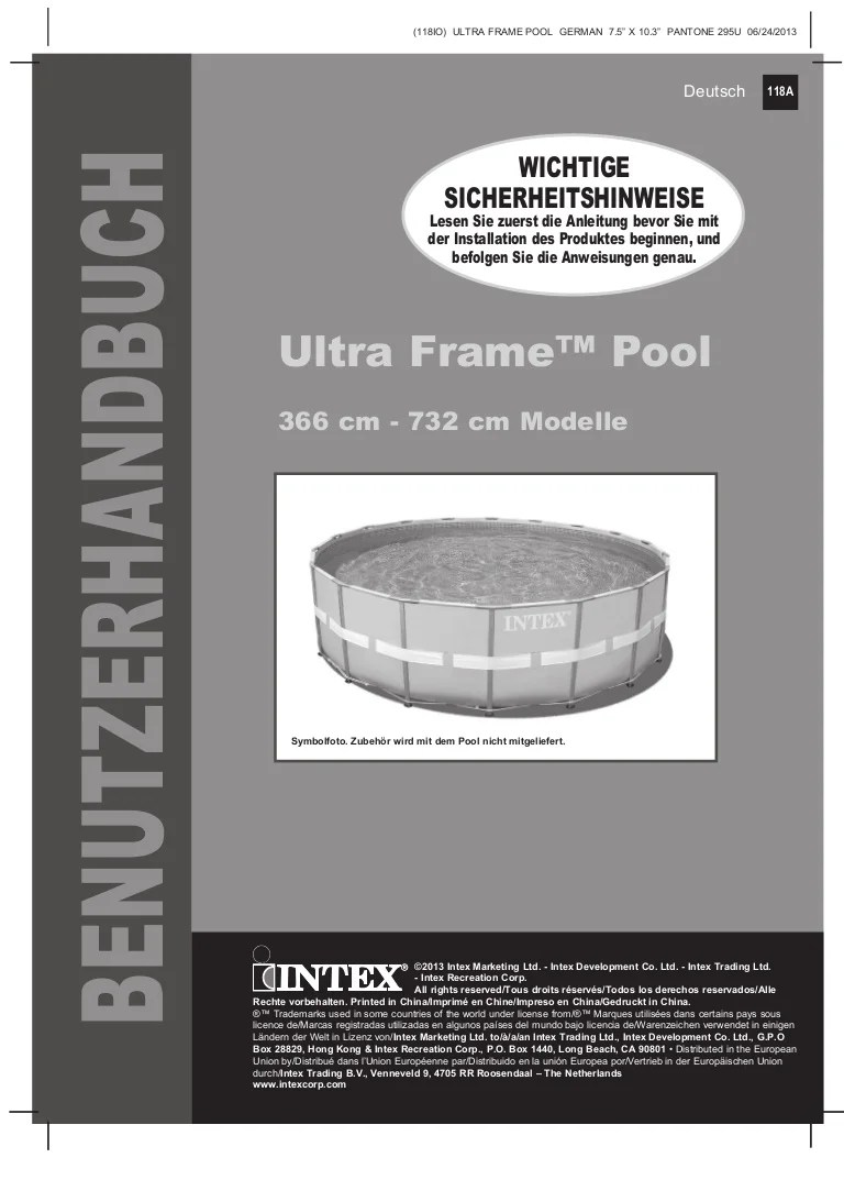 Intex Pool Reinigen Vor Winter Handbuch Ultra Frame Pool Intex Pool Shop