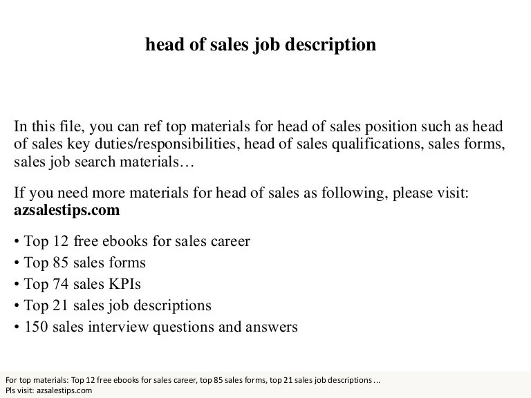sales staff job description - Jolivibramusic