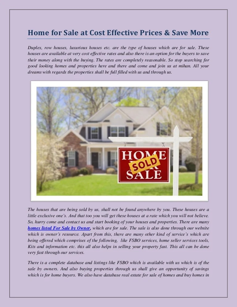free home listings for sale by owner