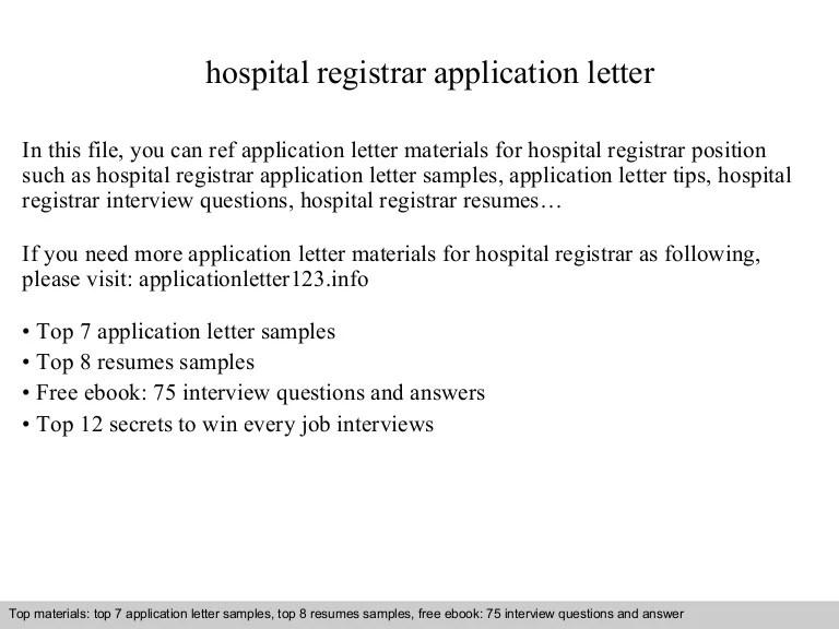cover letter for registrar - Onwebioinnovate
