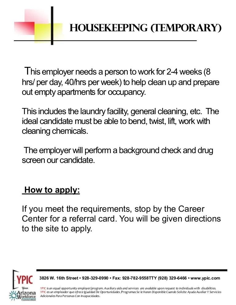 housekeeper description - Romeolandinez - housekeeper job duties