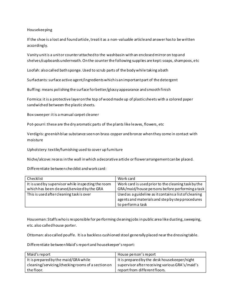 housekeeper checklist - Tikirreitschule-pegasus - housekeeper cleaning checklist
