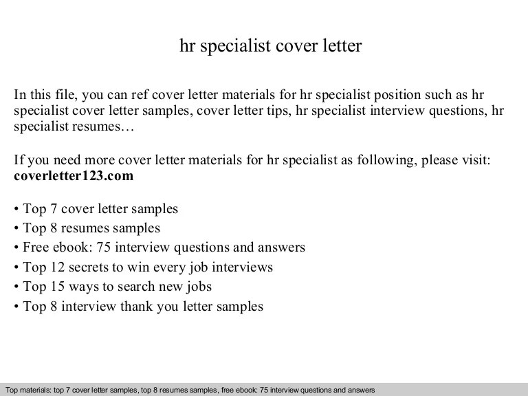 sample cover letter for human resource assistant - Josemulinohouse