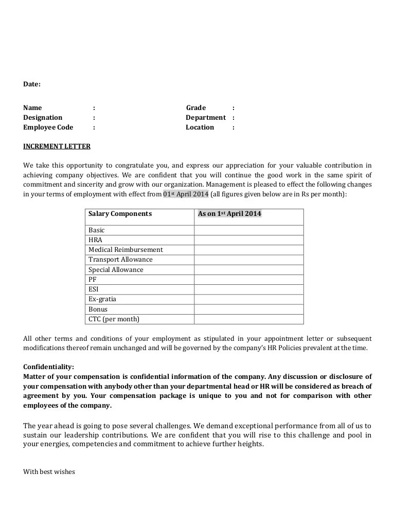 Template For Salary Increase - Corpedo - how to write salary increment letter