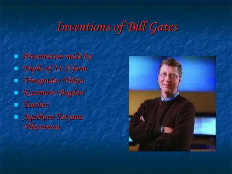 bill gates inventions