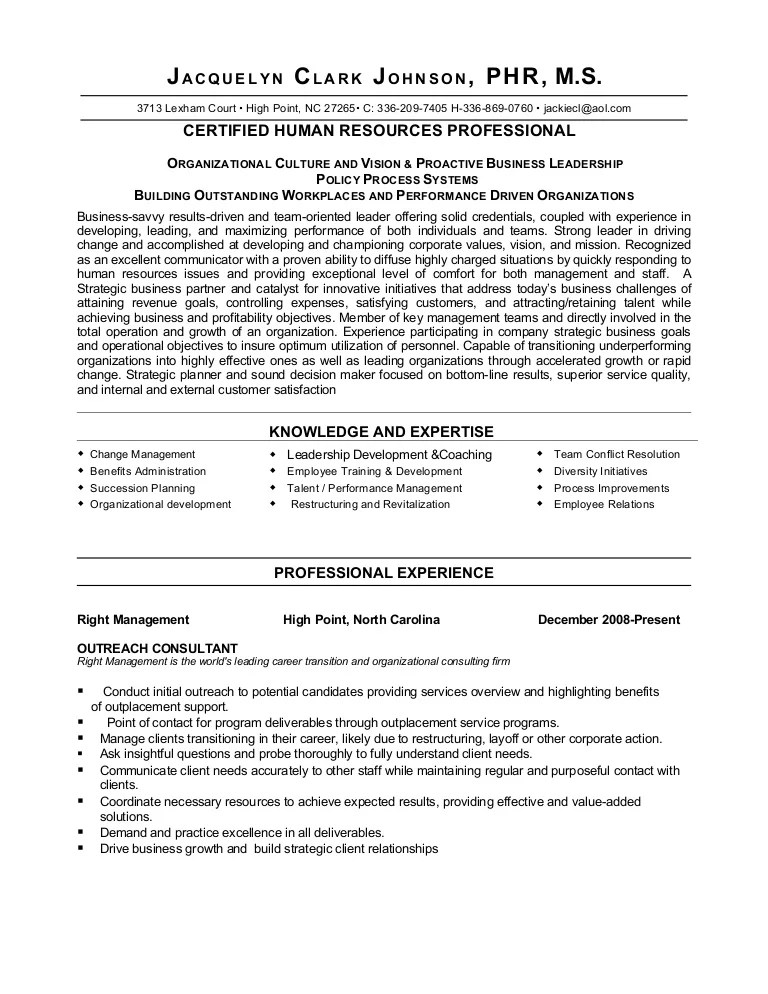 mba consultant sample resume