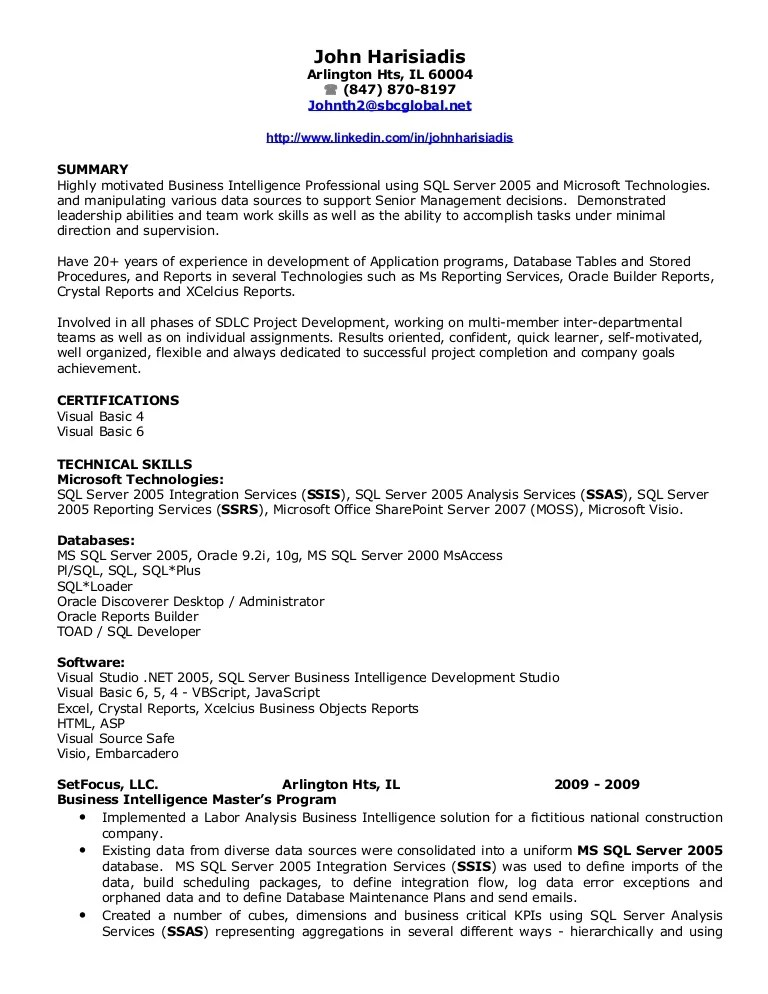 sql programmer resume - Selol-ink - vb programmer sample resume