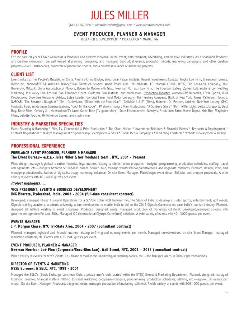tv producer resume - Towerssconstruction