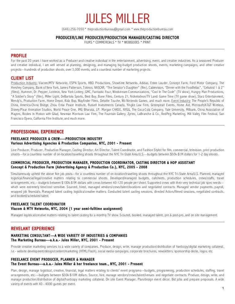 tv production resume examples - Minimfagency