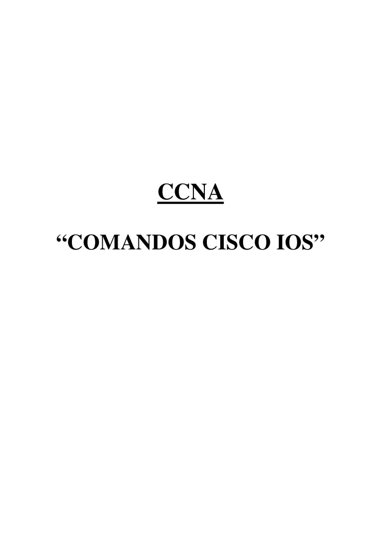 Libro Cisco Libro Cisco Ios