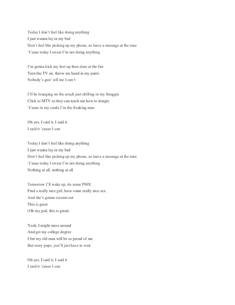 Best Lirik Dan Chord Lagu Bruno Mars Lazy Song Image Collection
