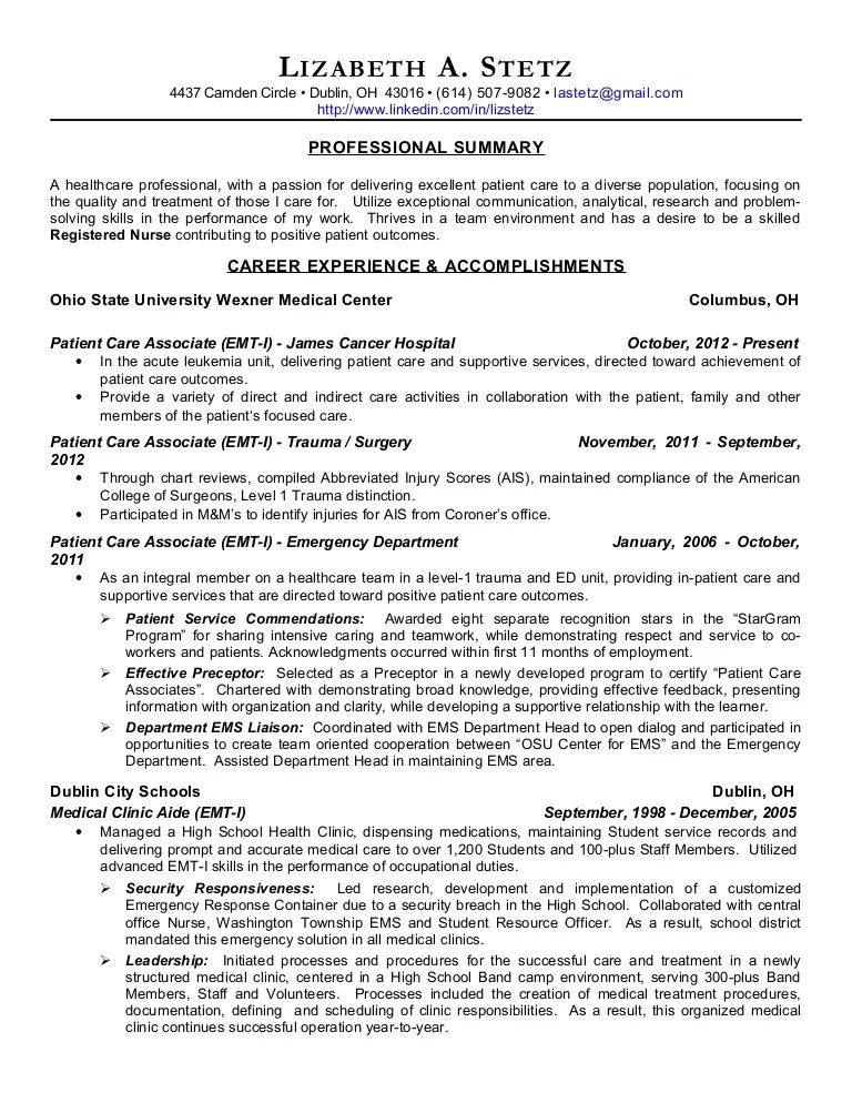 experienced registered nurse resume - Jolivibramusic - sample surgical nurse resume