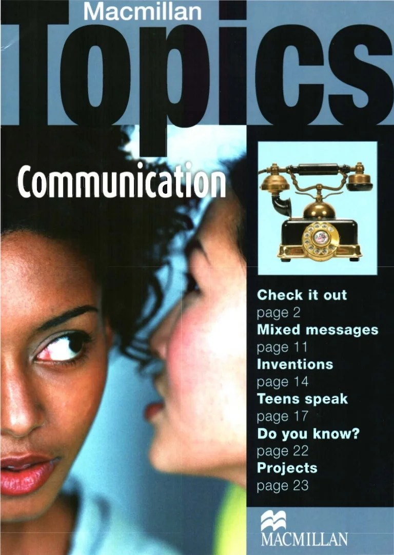Libros De Macmillan Macmillan Topics Communication Pre Intermediate