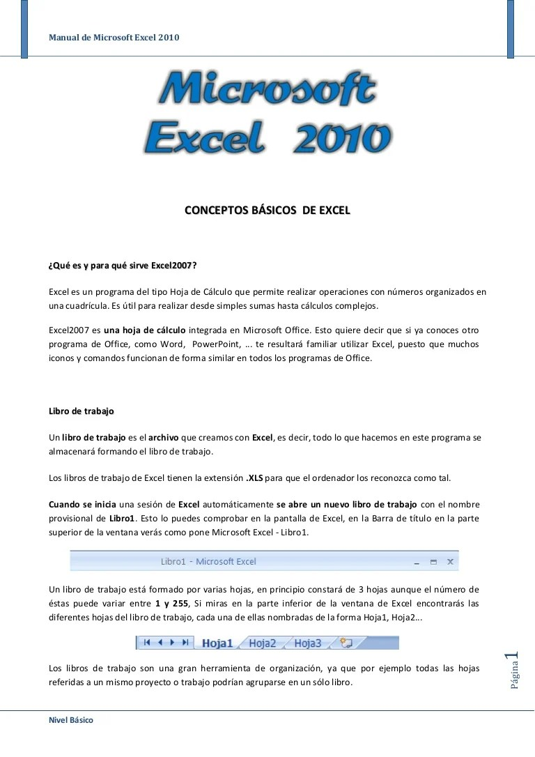 Raiz Cuadrada En Excel 2010 Manual De Office Excel 2010
