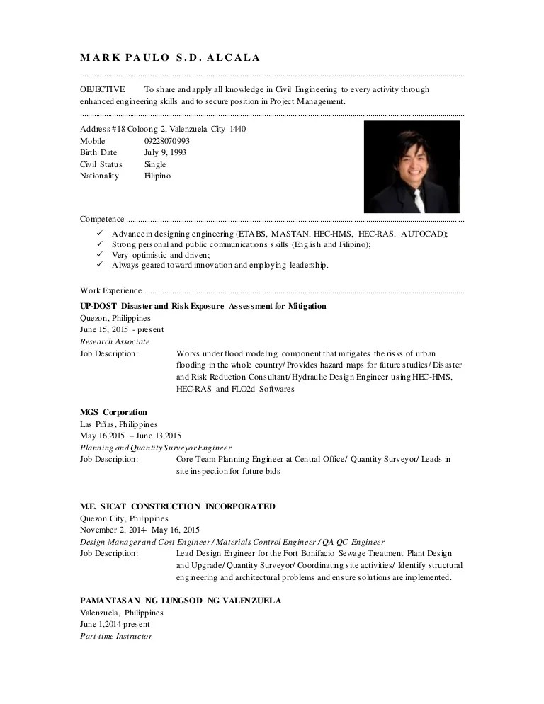 Surveying Engineer Sample Resume | ophion.co