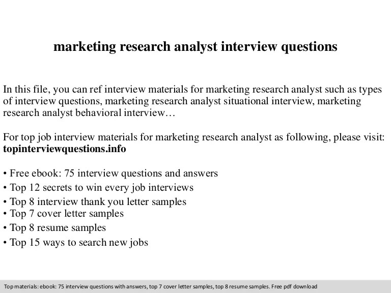 research analyst cover letter - Bire1andwap - market research analyst sample resume