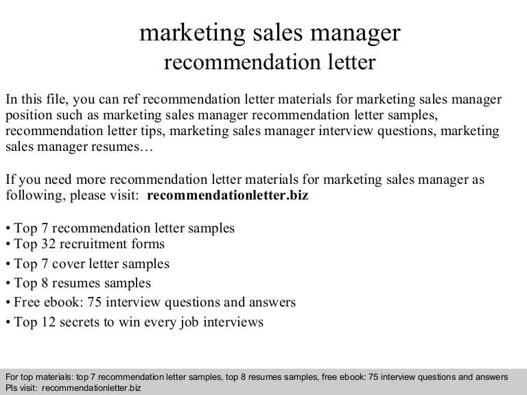 marketing recommendation letter sample - Tikirreitschule-pegasus