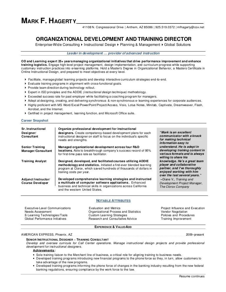 organizational development resume - Doritmercatodos