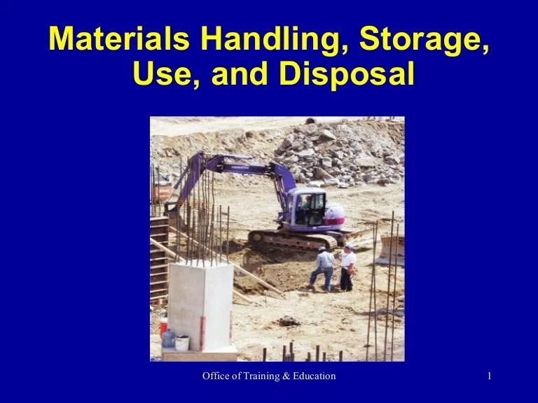 Materials Handling Ppt