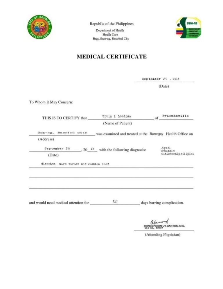 medical city medical certificate sample - Akbagreenw