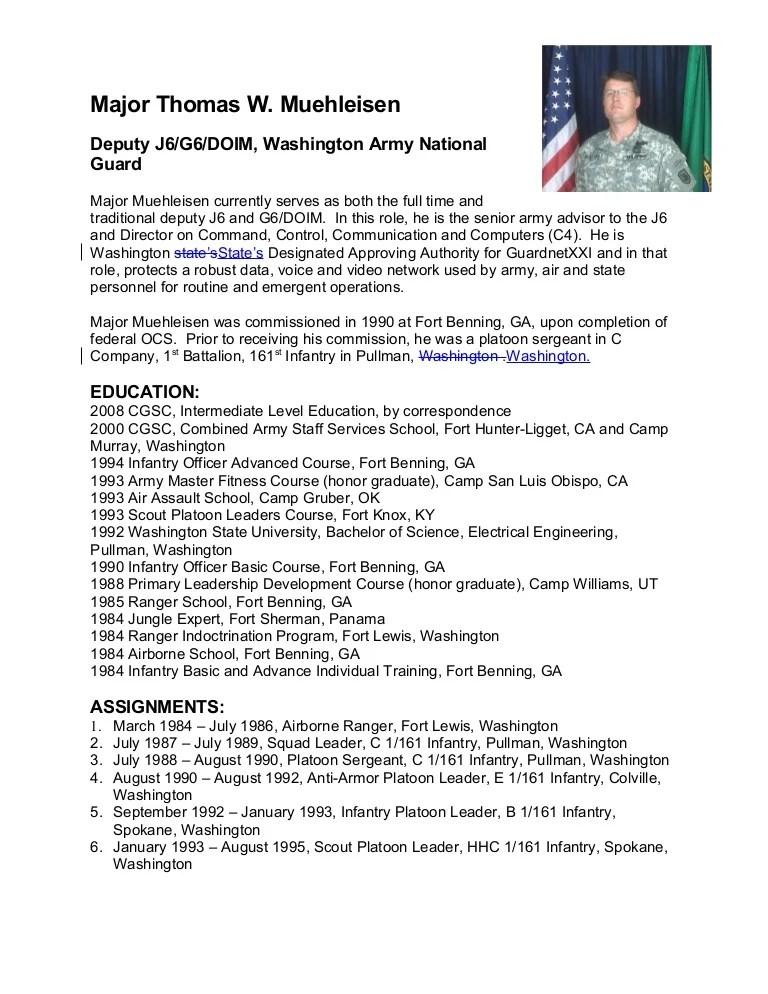 resume bio sketch