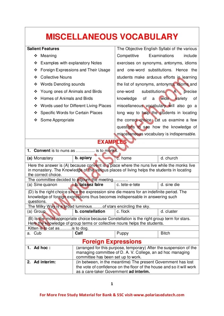 Carte Blanche Synonym English Study Material For Bank Ssc Exam
