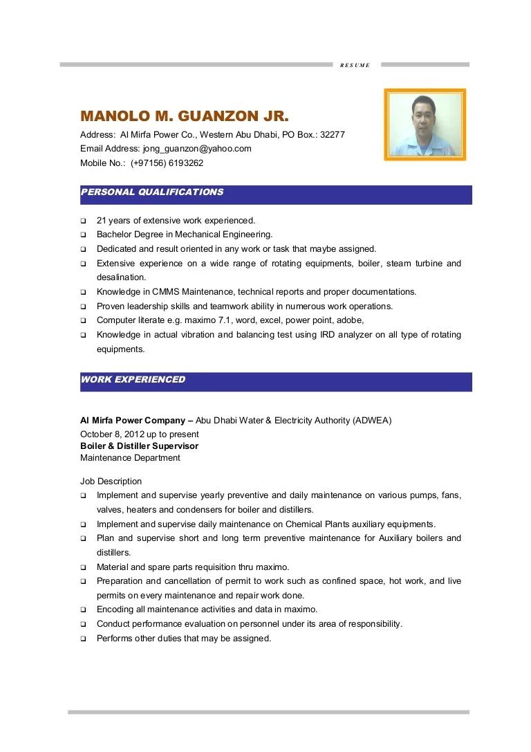 electrical resume doc