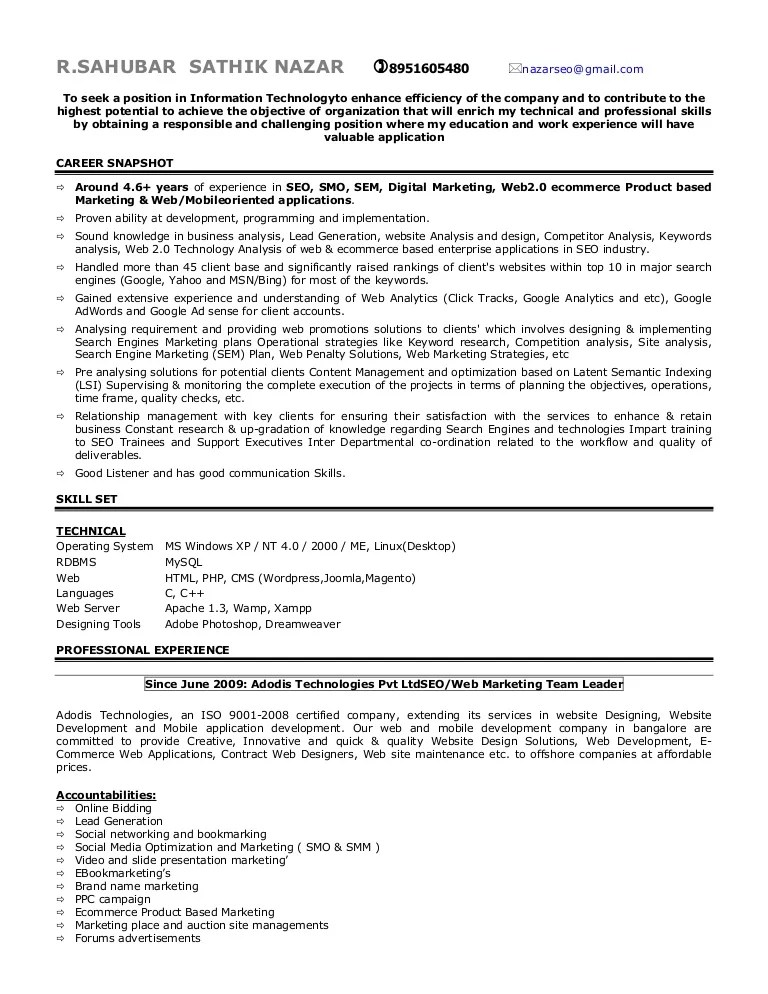 resume for ms in us - Onwebioinnovate - contract loan processor sample resume