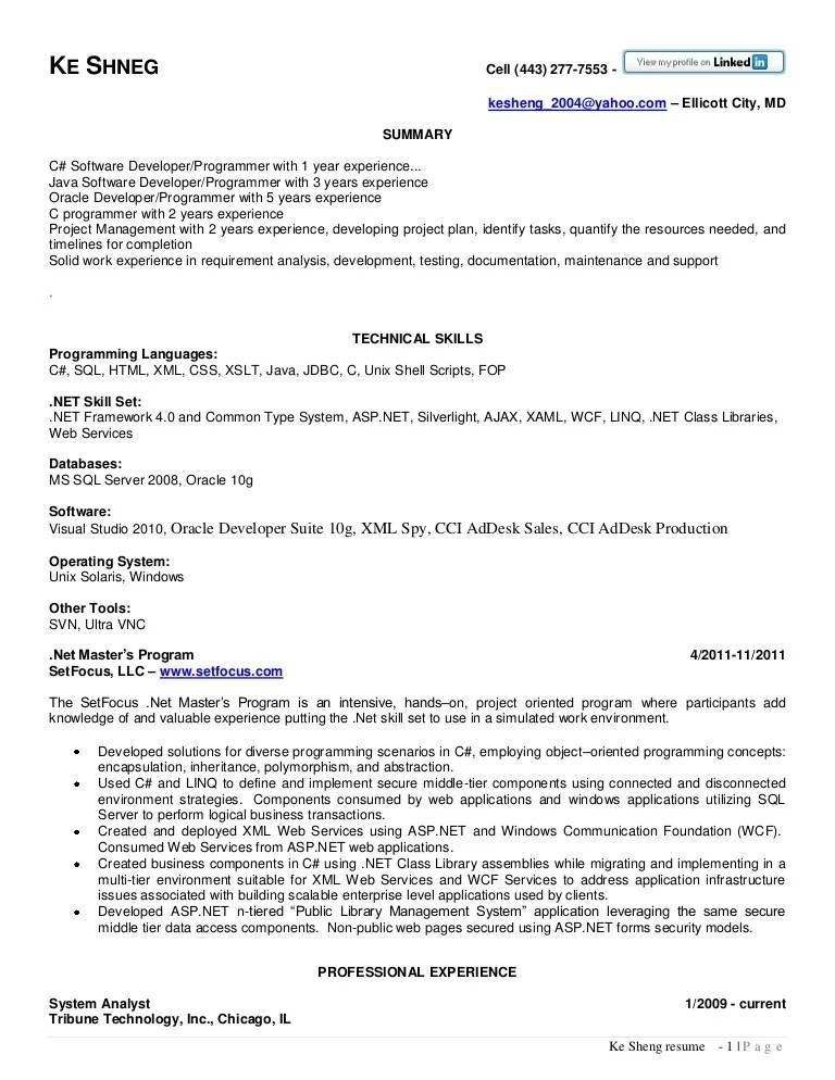 asp net resume samples - Jolivibramusic - java developer resumes