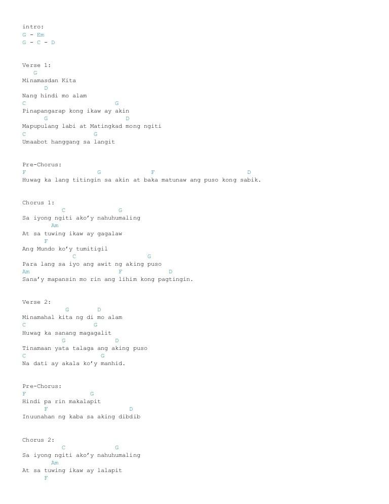 Sino Ba Ako Sayo Lyrics And Chords - Itravelpages