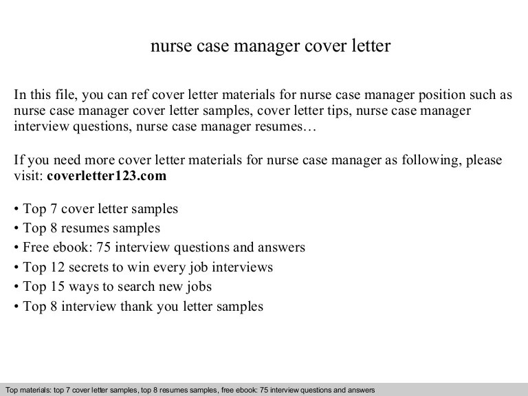 case manager cover letter sample no experience
