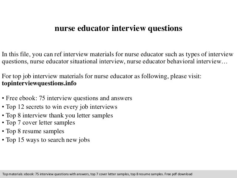 behavioral interview questions for nurses and answers - Selol-ink