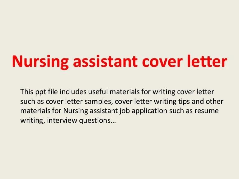 nursing assistant cover letters - Pinarkubkireklamowe